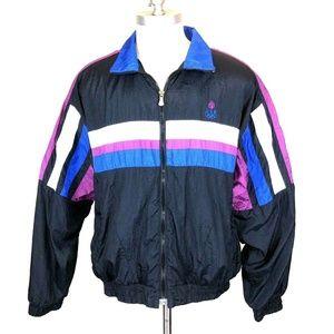 Vintage Track Jacket USA Olympics L Color Block